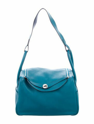 Hermes Clemence Lindy 34 Blue