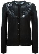 Dolce & Gabbana lace appliqué cardigan - women - Cashmere - 44