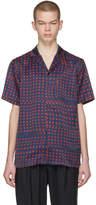 Facetasm Navy and Red Dot Print Shirt