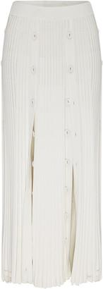 CHRISTOPHER ESBER Pleated Stretch-Knit Midi Skirt