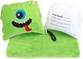 Trendy Kid Travel Buddies Snoozy Blanket and Pillow Set - Archie Alien