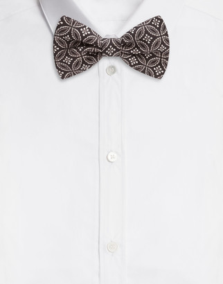 Dolce & Gabbana Silk Bow Tie With Tie Print