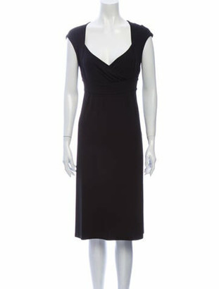 Celine V-Neck Knee-Length Dress Black