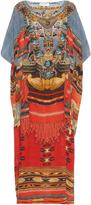Camilla Wandress-print silk maxi dress