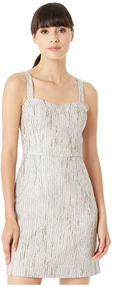 Ted Baker Rearay Seaming Detail Fitted Mini Dress (Silver) Women's Dress