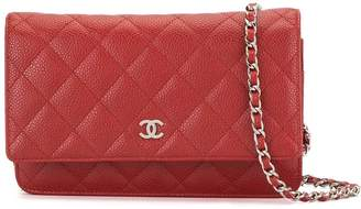 Chanel Pre-Owned 2015 diamond quilted WOC