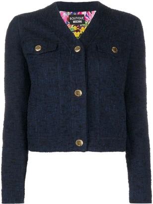 Boutique Moschino Tweed V-Neck Jacket