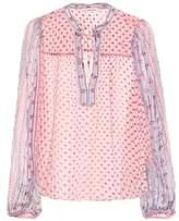 Ulla Johnson Constance printed silk blouse