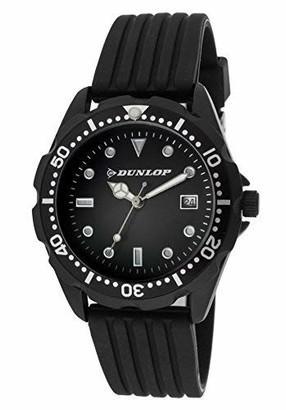 Dunlop Unisex Adult Analogue Quartz Watch with Rubber Strap DUN184L01