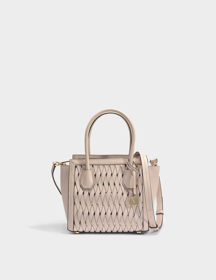 MICHAEL Michael Kors Mercer Studio Medium Messenger Bag in Soft Pink Smooth Weave