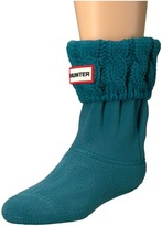 Hunter 6 Stitch Cable Boot Sock Kids Shoes