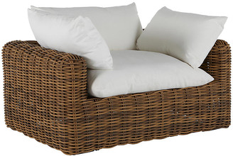 Montecito Outdoor Lounge Chair - Raffia - SUMMER CLASSICS INC - frame, raffia; upholstery, white
