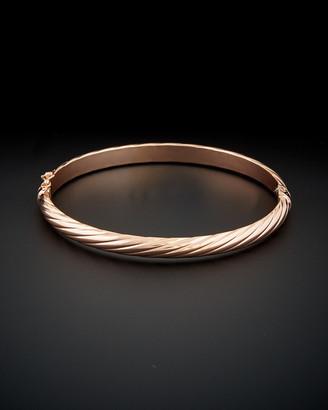 Italian Gold 14K Rose Gold Polished Twisted Bangle