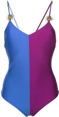 Fausto Puglisi Colour Block Bodysuit