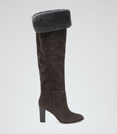 Reiss Una OVER-THE-KNEE SUEDE BOOTS