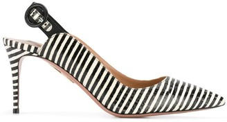 Aquazzura striped slingback pumps