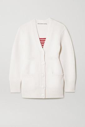 Alexander Wang Intarsia Wool-blend Cardigan - Ivory