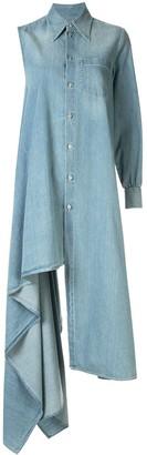 MM6 MAISON MARGIELA asymmetric denim shirt dress