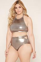 Forever 21 FOREVER 21+ Plus Size Sheeny Bikini Bottoms