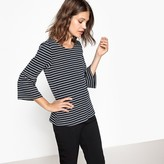 Vila Striped Long-Sleeved T-Shirt