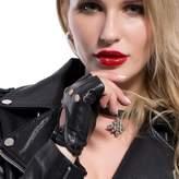 Matsu Gloves MATSU Classic Women Soft Driving Fingerless Lambskin Leather Gloves M9407 (, S)