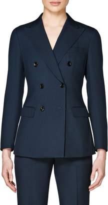 Suistudio Cameron Double Breasted Wool & Mohair Suit Jacket