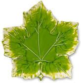 Vietri Reactive Leaf Maple Plate - Green