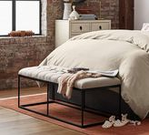 Pottery Barn Albany Tufted Upholstered Bench