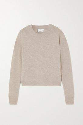 Allude Wool And Cashmere-blend Sweater - Beige