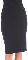 Bobeau Black Ponte Ollie Pencil Skirt