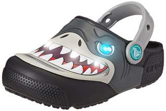 Crocs Kids' Fun Lab Shark Light-Up Clog