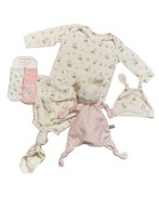 Bunnies by the Bay Infant Girl's Gown, Hat, Socks & Lovey Set