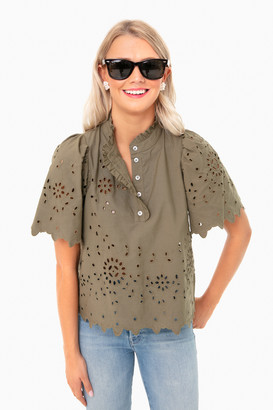 Sea New York Cream Fiona Short Sleeve Top
