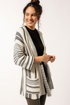 Azalea Striped Knit Cardigan