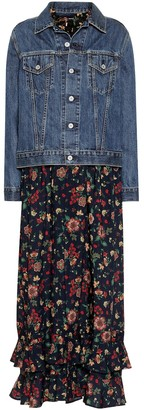 Junya Watanabe Denim jacket wool dress