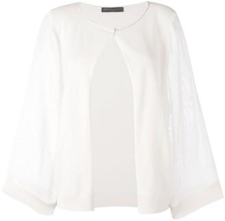 Fabiana Filippi Cashmere Single Button Knitted Blouse