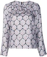 Suno metallic detail blouse - women - Silk/Polyester/Spandex/Elastane - 6
