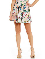 Gianni Bini Mira Pleated A-Line Floral Skirt