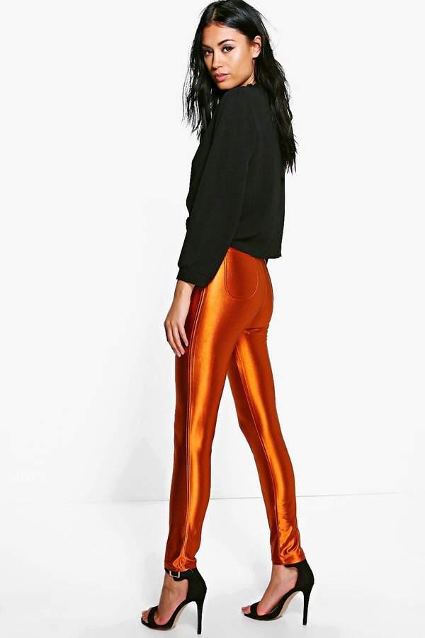 boohoo Willow High Waist Super Skinny Disco Trousers