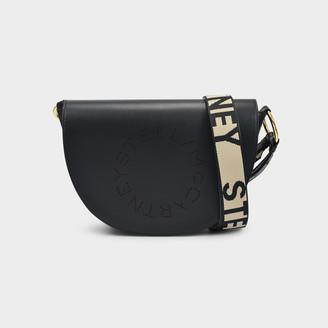 Stella McCartney Flap Bag In Black Eco Leather