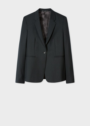 Paul Smith A Suit To Travel In - Women's Dark Green One-Button Wool Blazer
