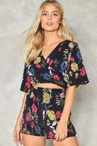Nasty Gal Walk Straight Down the Middle Floral Romper
