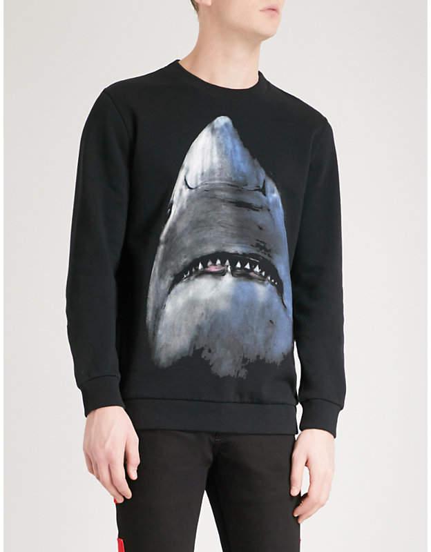 Givenchy Shark-print cotton-jersey sweatshirt