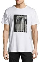 Public School Horse Statue Graphic T-Shirt, White