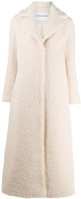 Stand Studio Long Sleeve Faux-Shearling Coat
