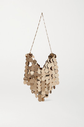 Paco Rabanne Paillette-embellished Chainmail Shoulder Bag - Gold