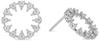 Ri Noor Reve Round Diamond Earrings Large