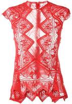 Jonathan Simkhai sheer lace top - women - Polyester/Cotton - M