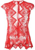 Jonathan Simkhai sheer lace top - women - Polyester/Cotton - XS