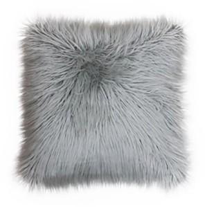 "Thro Keller Faux Mongolian Reverse To Micromink Pillow, 20"" x 20"""